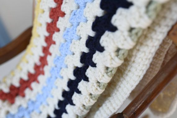 Crochet Baby Blanket, Crochet Multi-Colour Baby Blanket, Crochet ...