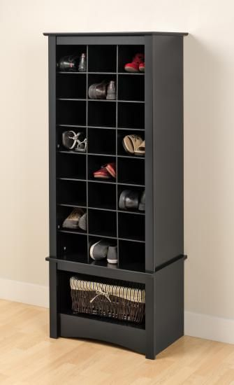 Prepac Black Tall Shoe Cubbie Cabinet Busr 0008 1 Goedekers Com Home Home Decor Shoe Storage Cabinet