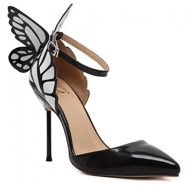 Stylish Butterfly and Two-Piece Design Pumps For Women (38 AUD) ❤ liked on Polyvore featuring shoes and butterfly shoes