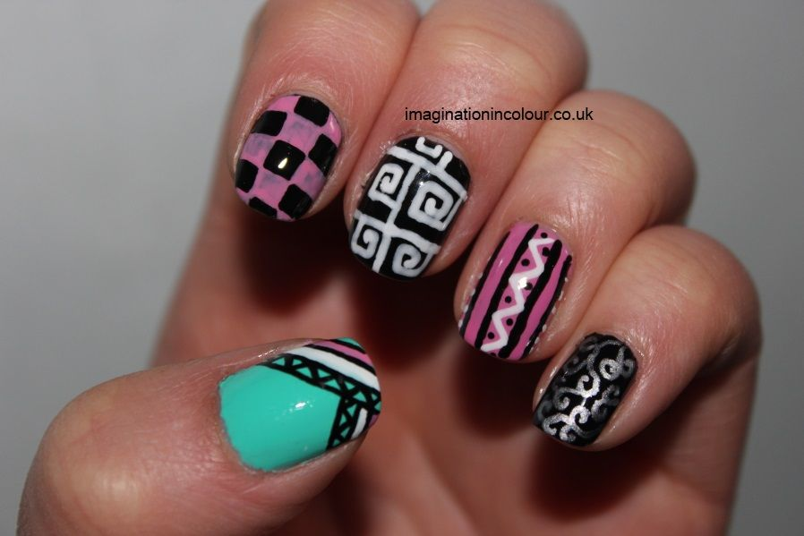 tribal nail designs for my daughter | Acrylic Nails | Pinterest ...