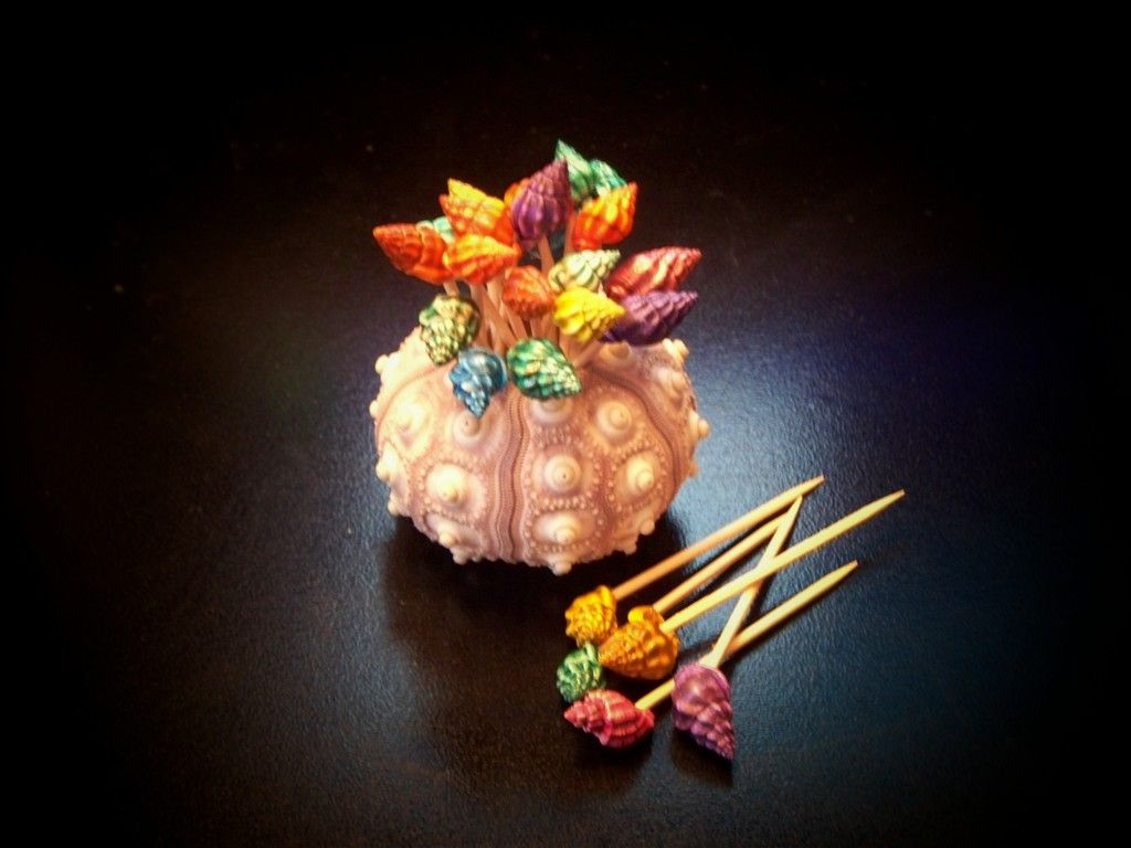 Dark Dyed Shell Toothpicks