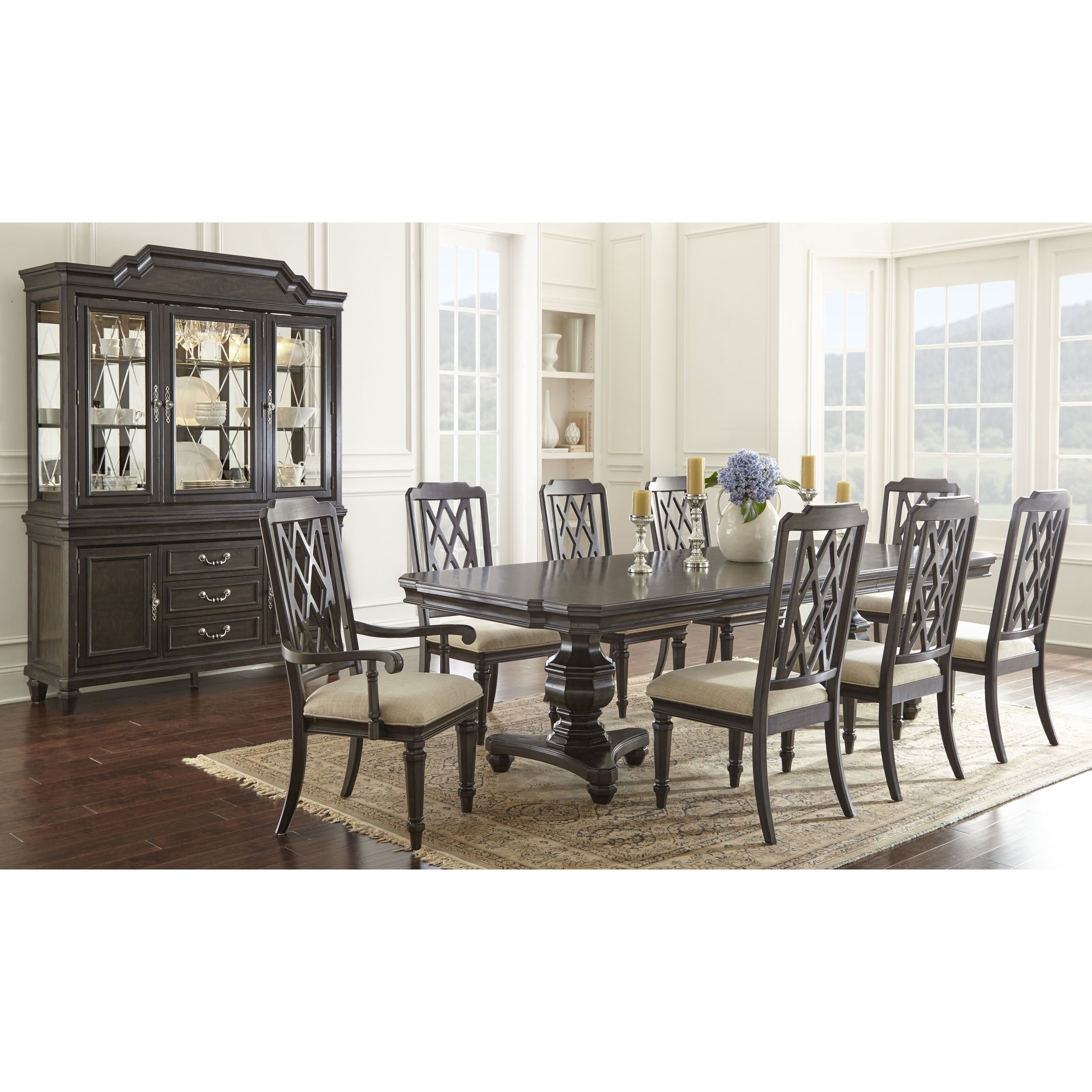 Dining Room Table Size For 10 Amusing Greyson Living Vanderbilt Dining Set Vanderbilt 10Piece Dining Design Inspiration