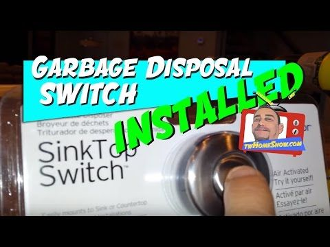 (36) Sink Top Garbage Disposal Switch: Easy DIY Project! - YouTube