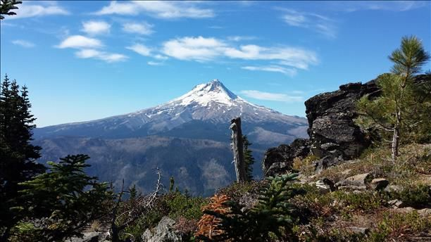 View of Mt. Hood from Lookout Mountain Thurs 10/2
