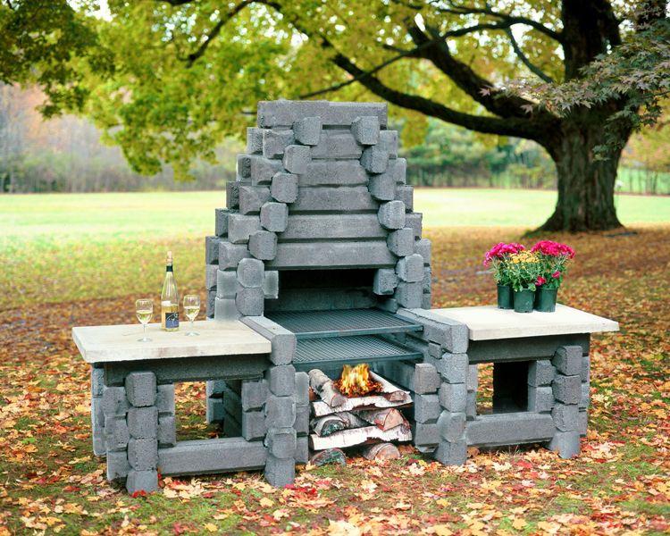 precast concrete outdoor fireplace kits