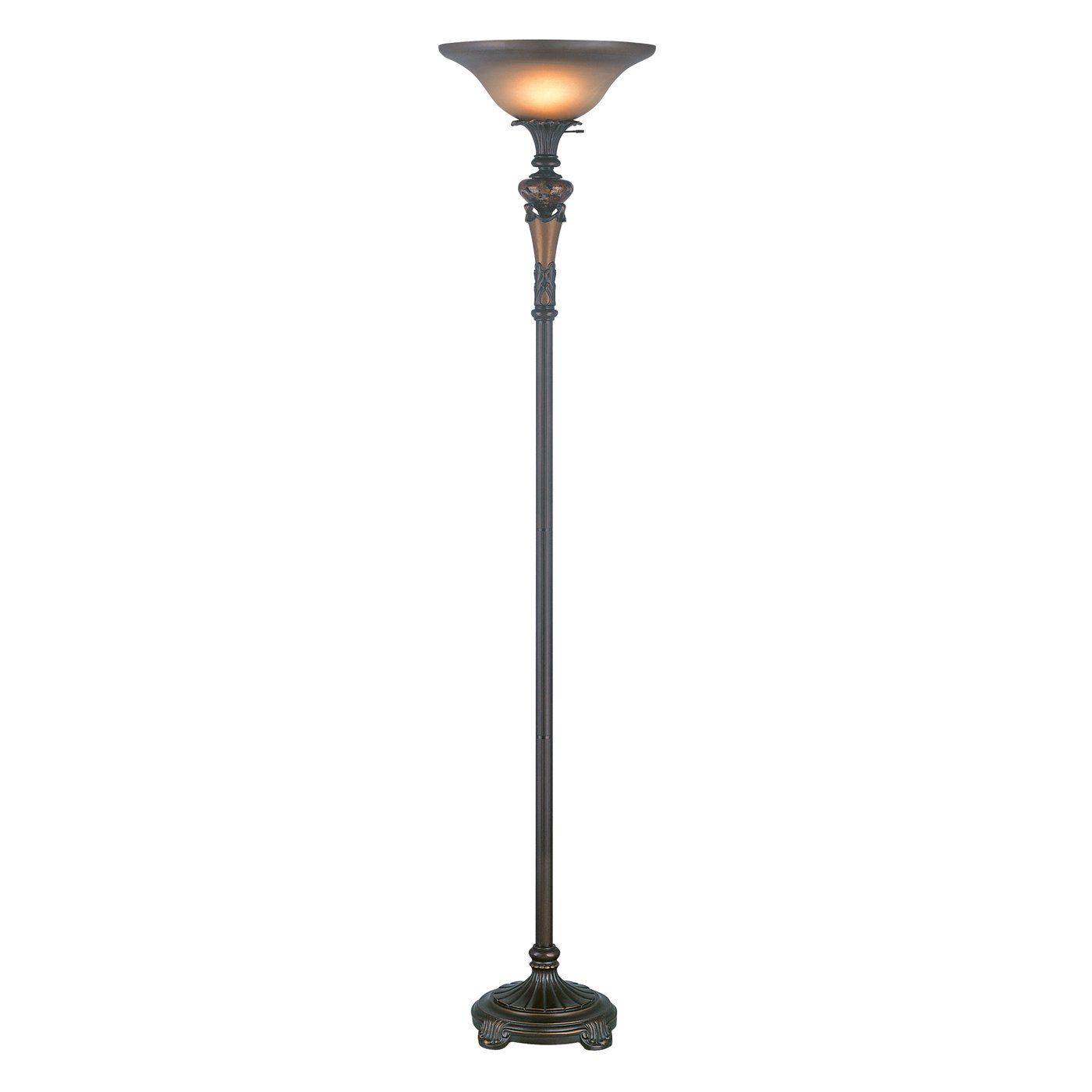 Lite Source CF6309 Muir Torchiere Floor Lamp, Antique Gold ...
