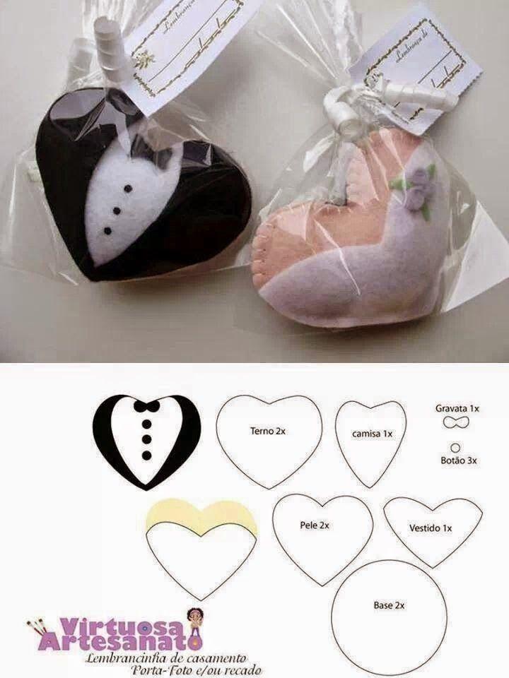 muchas ideas de souvenirs o recuerdos para boda!!!   fieltro navidad