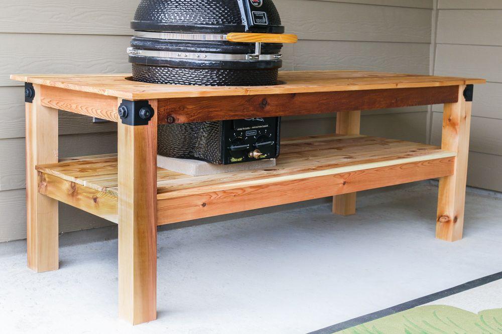 diy kamado grill table grill table kamado grill and. Black Bedroom Furniture Sets. Home Design Ideas