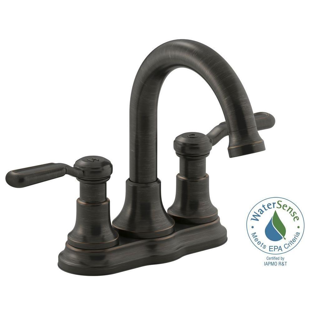 KOHLER Worth 4 In. Centerset 2 Handle Bathroom Faucet In Oil Rubbed Bronze Ideas