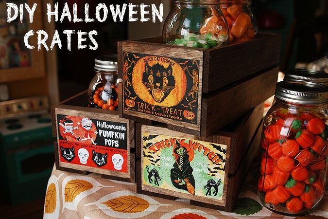 DIY Halloween crate printables