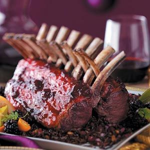 Glazed Racks of Lamb This looks FANCY but the reci