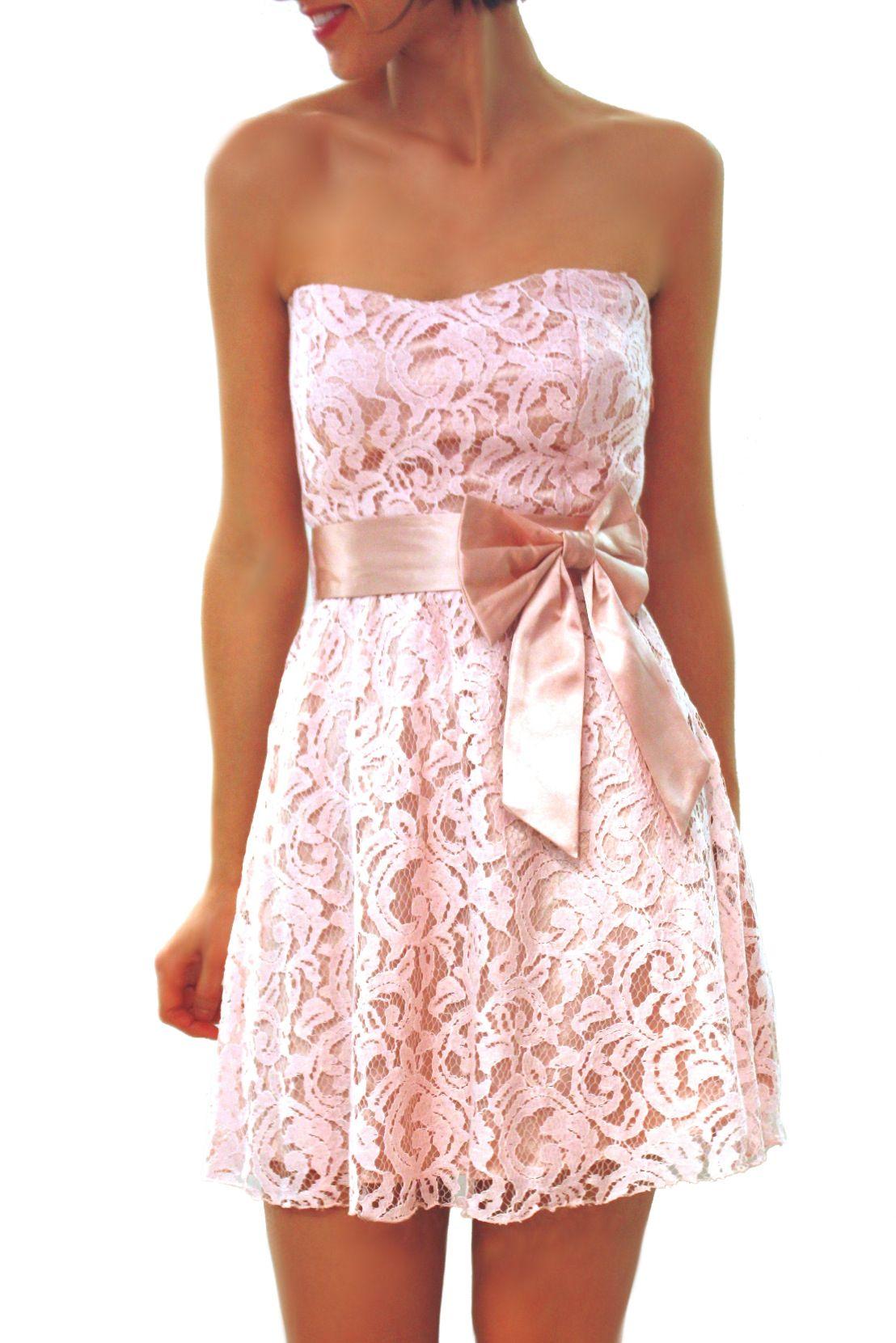 Vestido de Encaje Rosa Pálido. 55,50€ en www.carmenenlasarenas.com ...