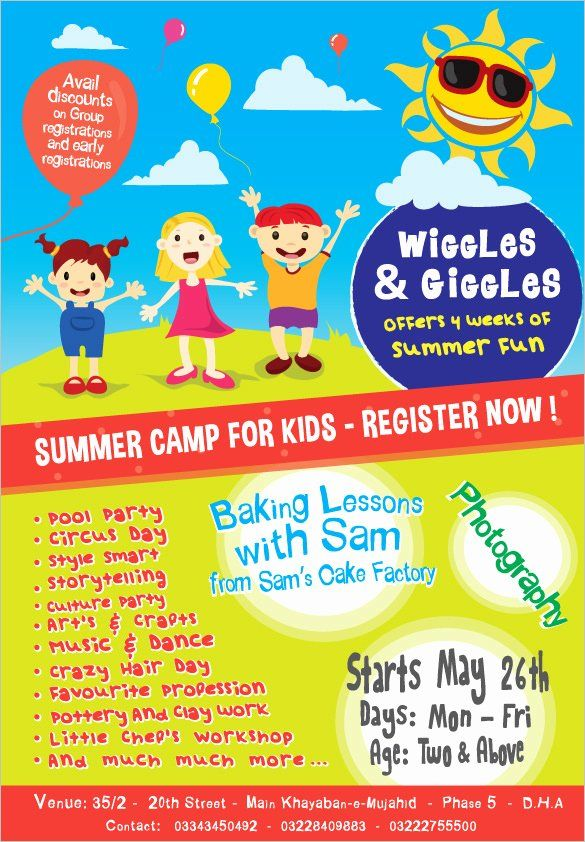 Free Summer Camp Flyer Template Luxury 51 Summer Camp