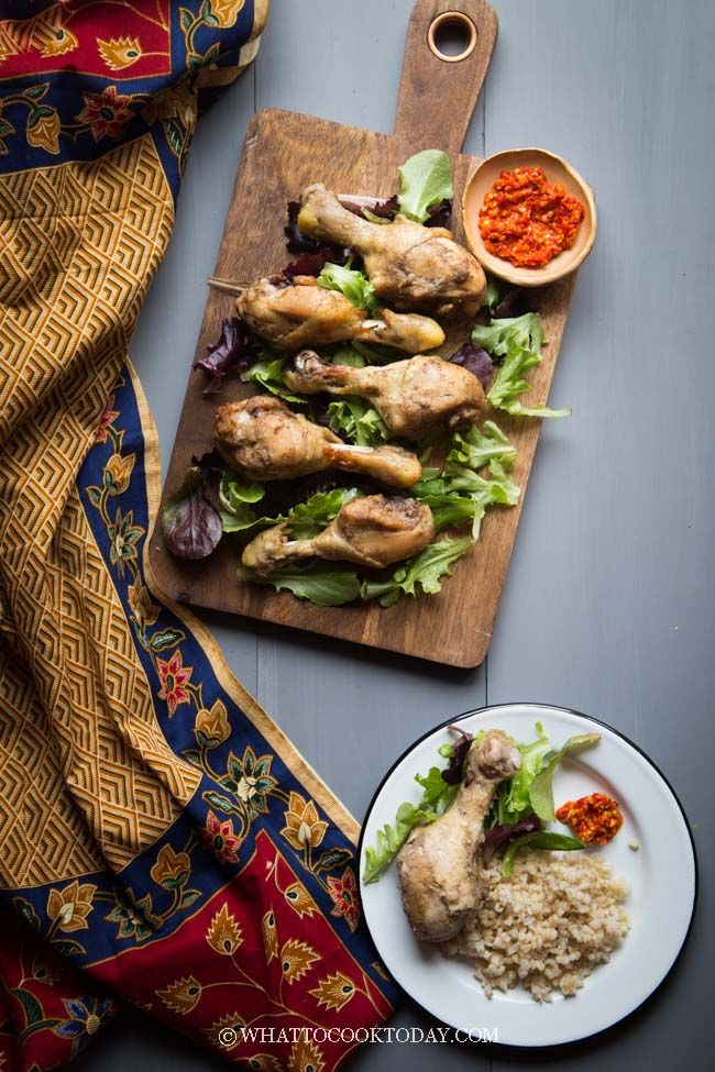 Ayam Pop Padang (Pressure Cooker). Chicken pieces are cooked in aromatic spices, seasonings, and