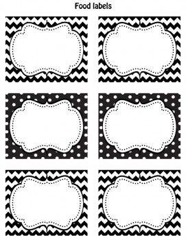 Free Black White Printable Labels Printable Labels Labels Printables Free Labels