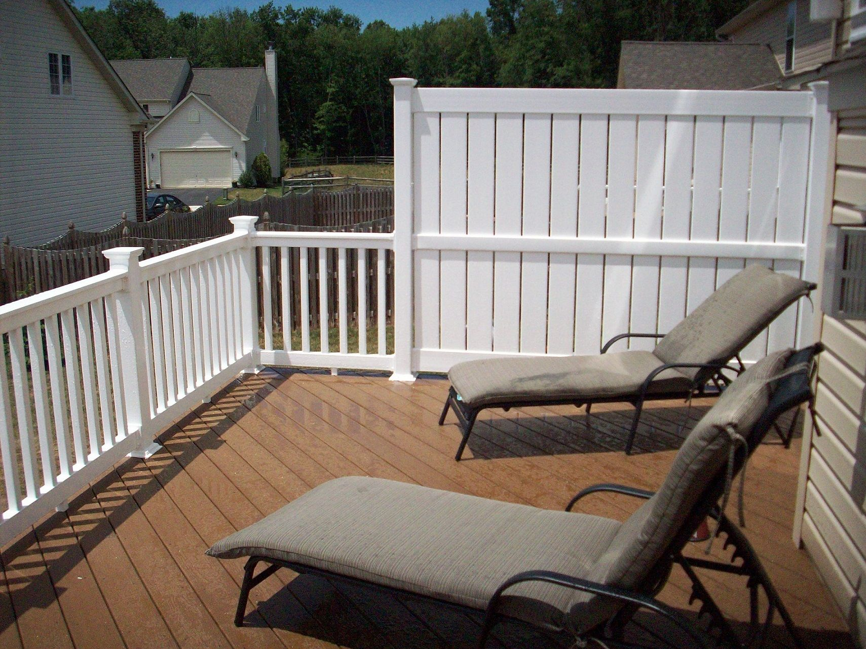 Privacy Screen For Deck Railing