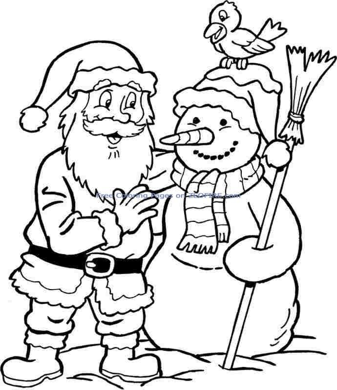 The following is no Santa Claus Coloring Pages in 92 pictures ready ...