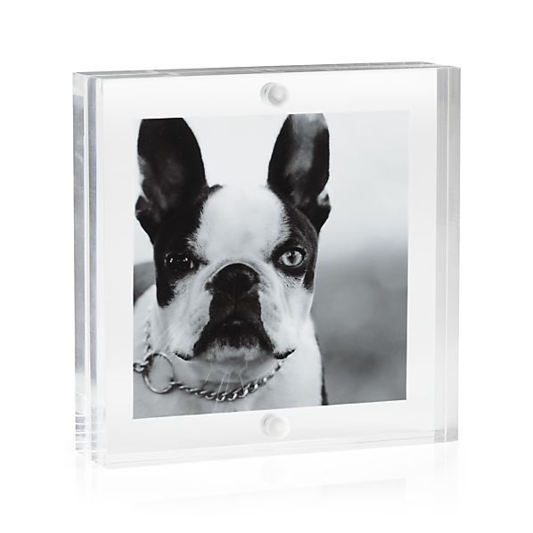 Acrylic 3x3 Block Picture Frame | Acrylics, Clear acrylic and ...