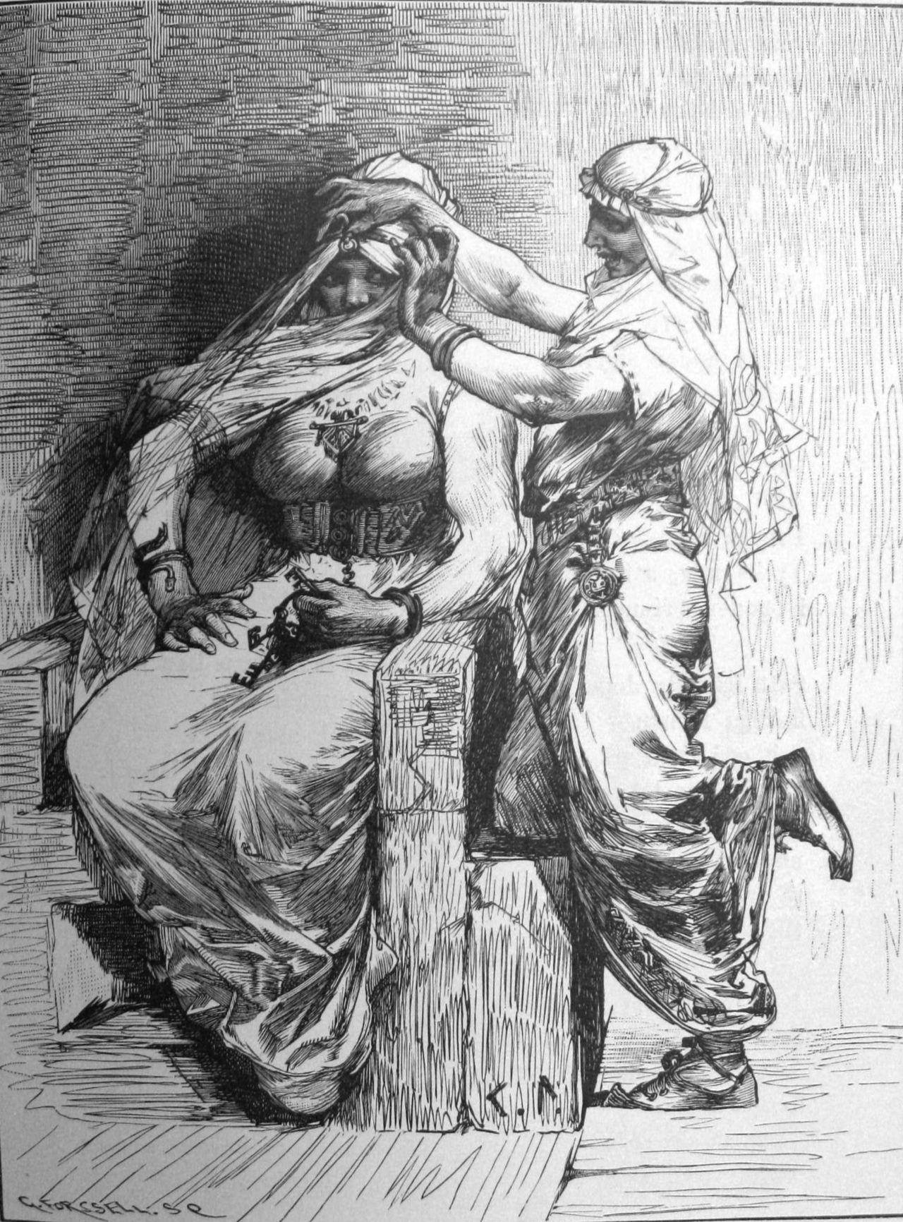 "Loki Norse Mythology: Loki dressing Thor as the ""bride"" to trick a giant."