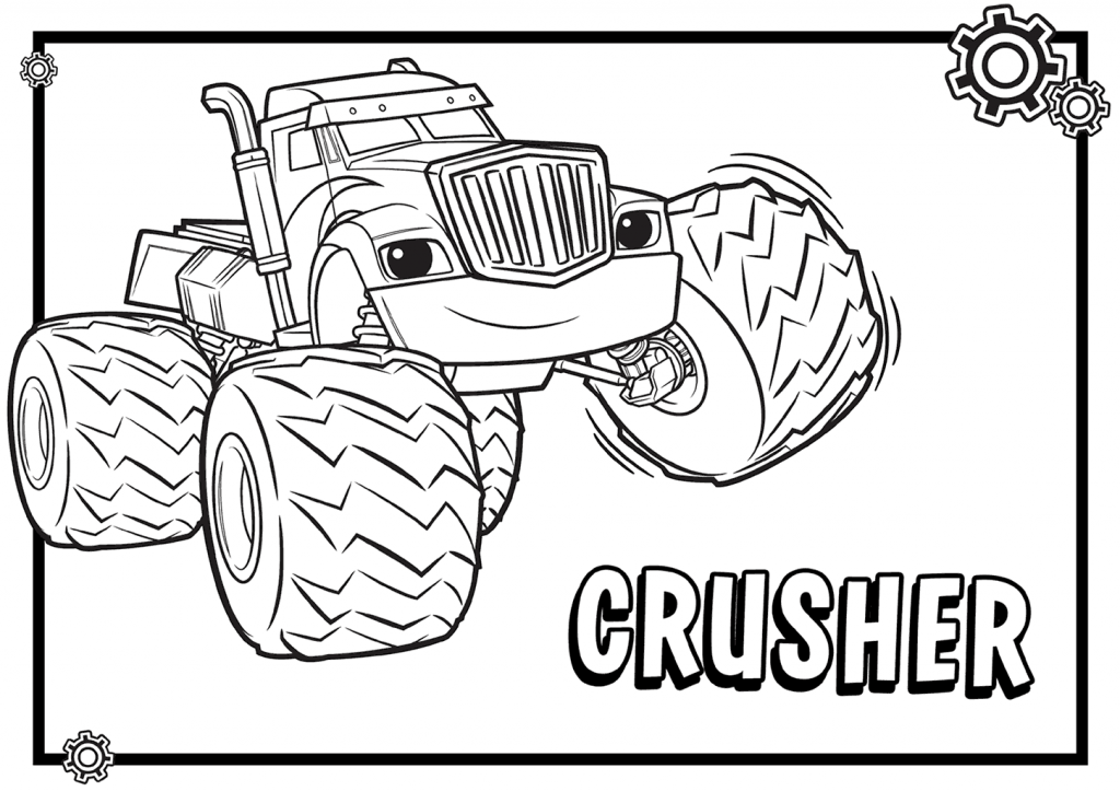 Crusher Blaze And The Monster Machines Coloring Pages Monster Truck Coloring Pages Coloring Pages Nick Jr Coloring Pages