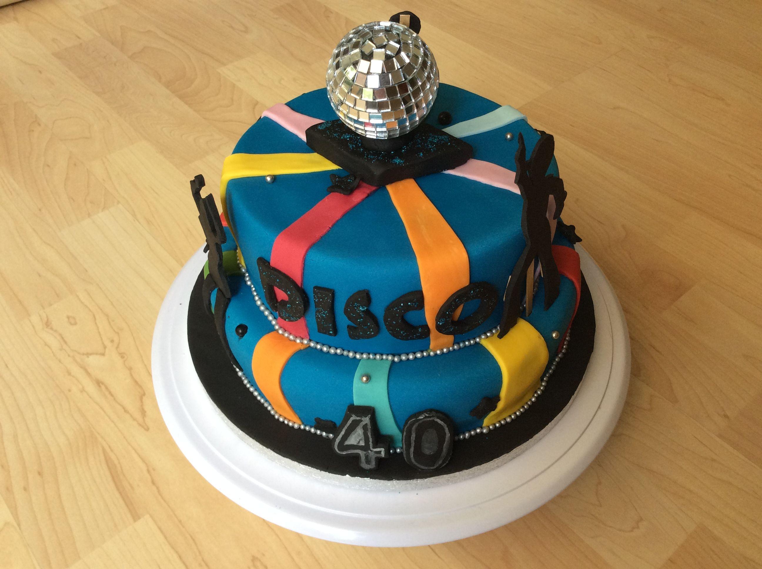 1970s disco theme birthday cake cake celebration cakes