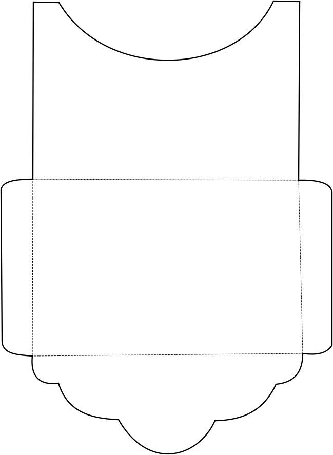Шаблон открытки в форме конверта