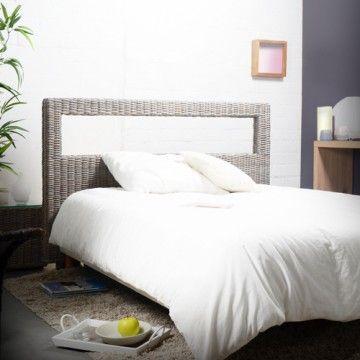 La tête de lit en rotin 160 Kubu par Tikamoon est une tête de lit double f86026b54a6c