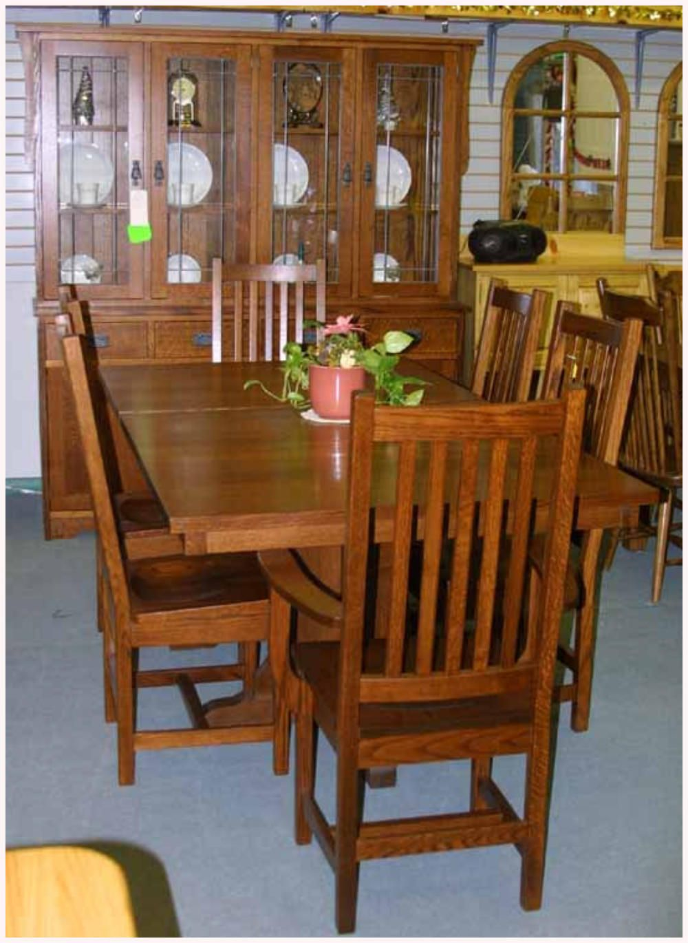 Room Dining Table Buffet Hutch