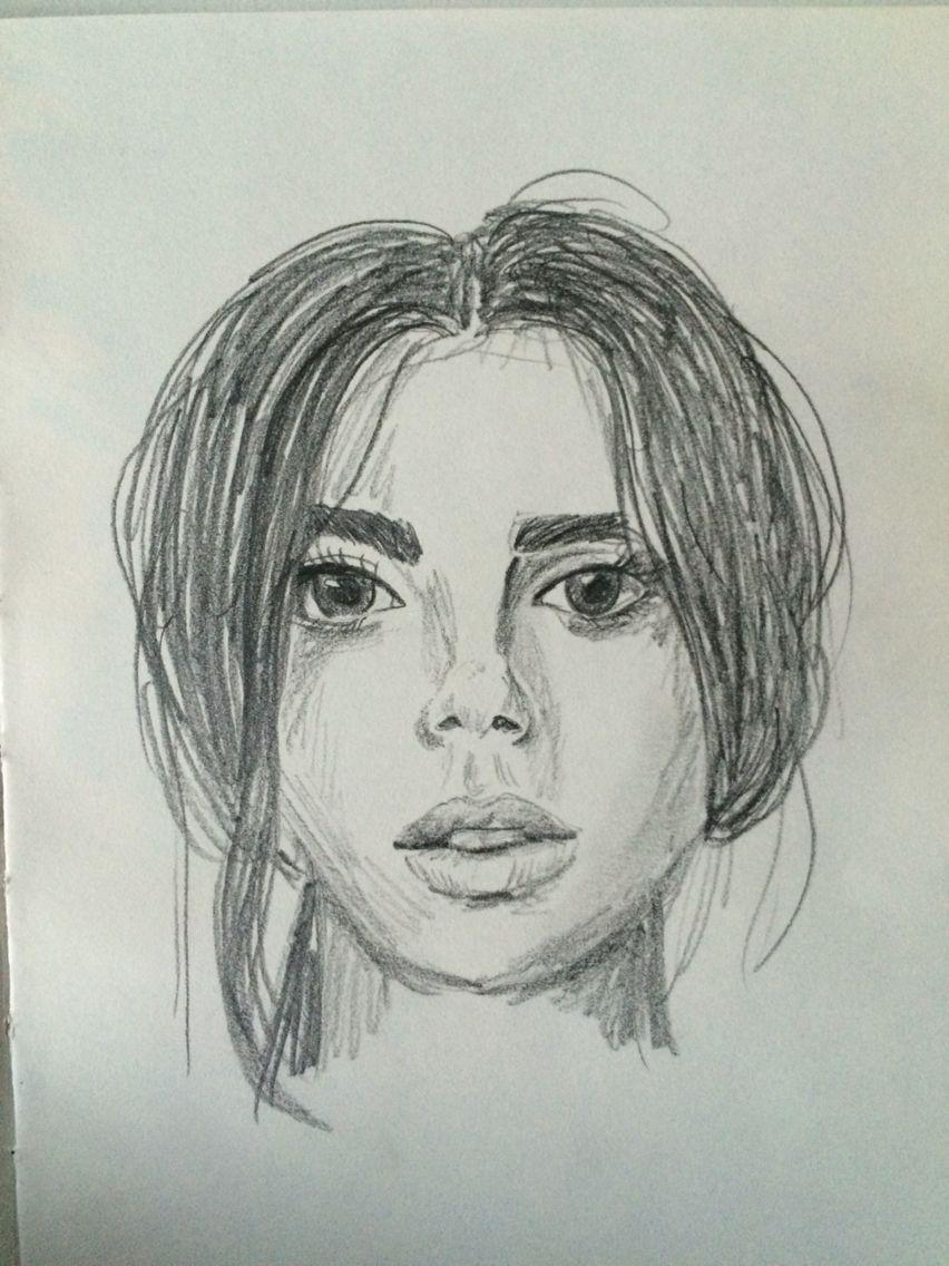 getekend gezicht