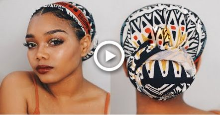 Messy Hairstyles Step By Step is part of Quick And Cute Messy Hairstyles  Beautified Designs - HEADWRAP FOR THE LOW LOW!   HEADWRAP TUTORIAL