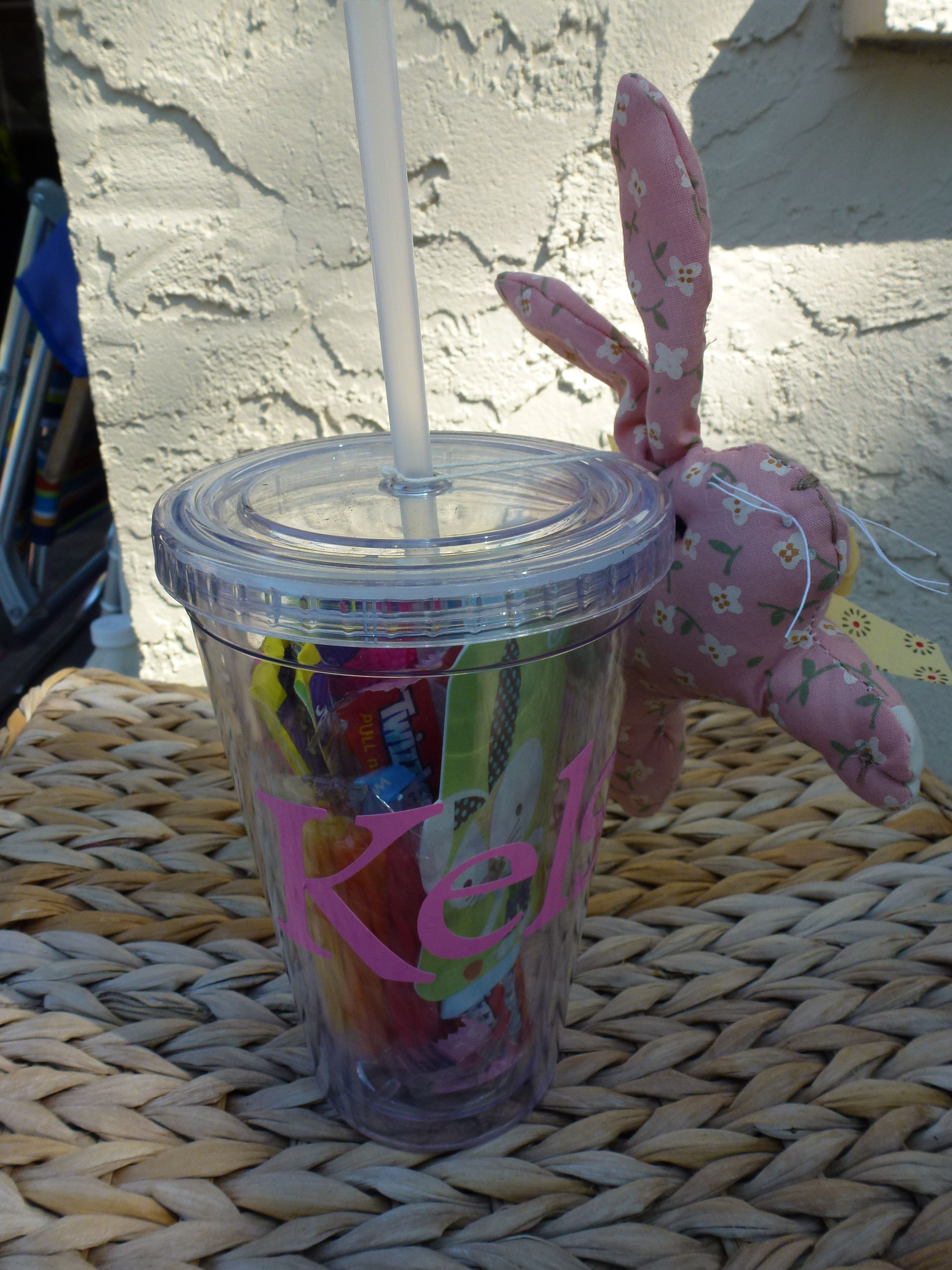 Monogrammed tumbler with twizzlers fun dip and gift cardece monogrammed tumbler with twizzlers fun dip and gift cardece easter negle Choice Image