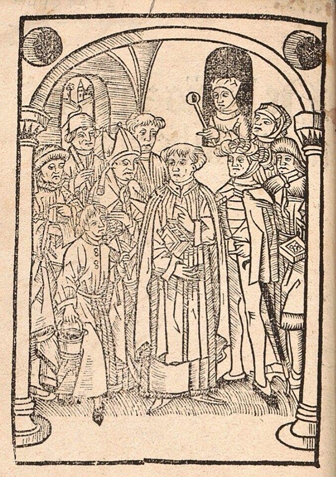 De laniis [et] phitonicis mulieribus (frontispiece). 1489