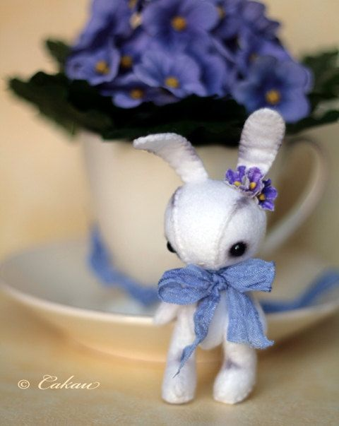 Forget-Me Knot rabbit plushy