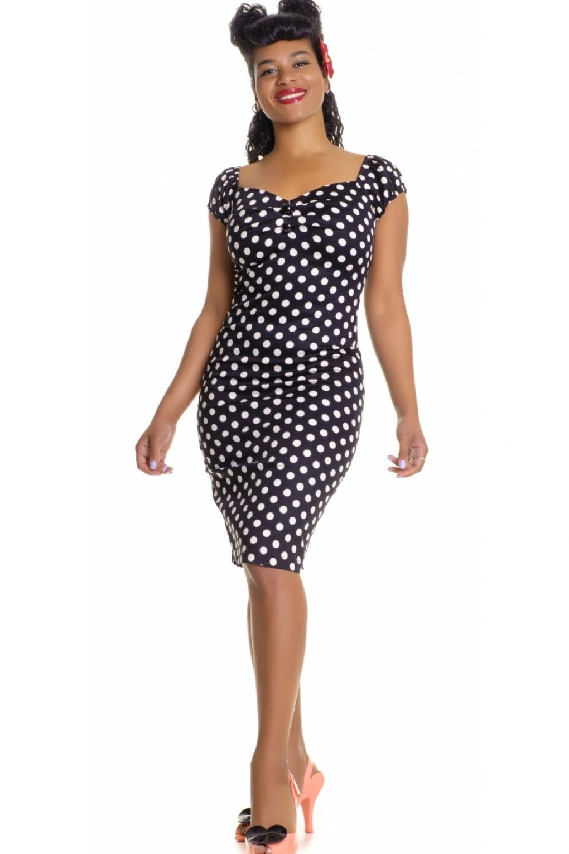 9c9b736c5c6bff Collectif Clothing - 50s Dolores dress black white polka dot retro