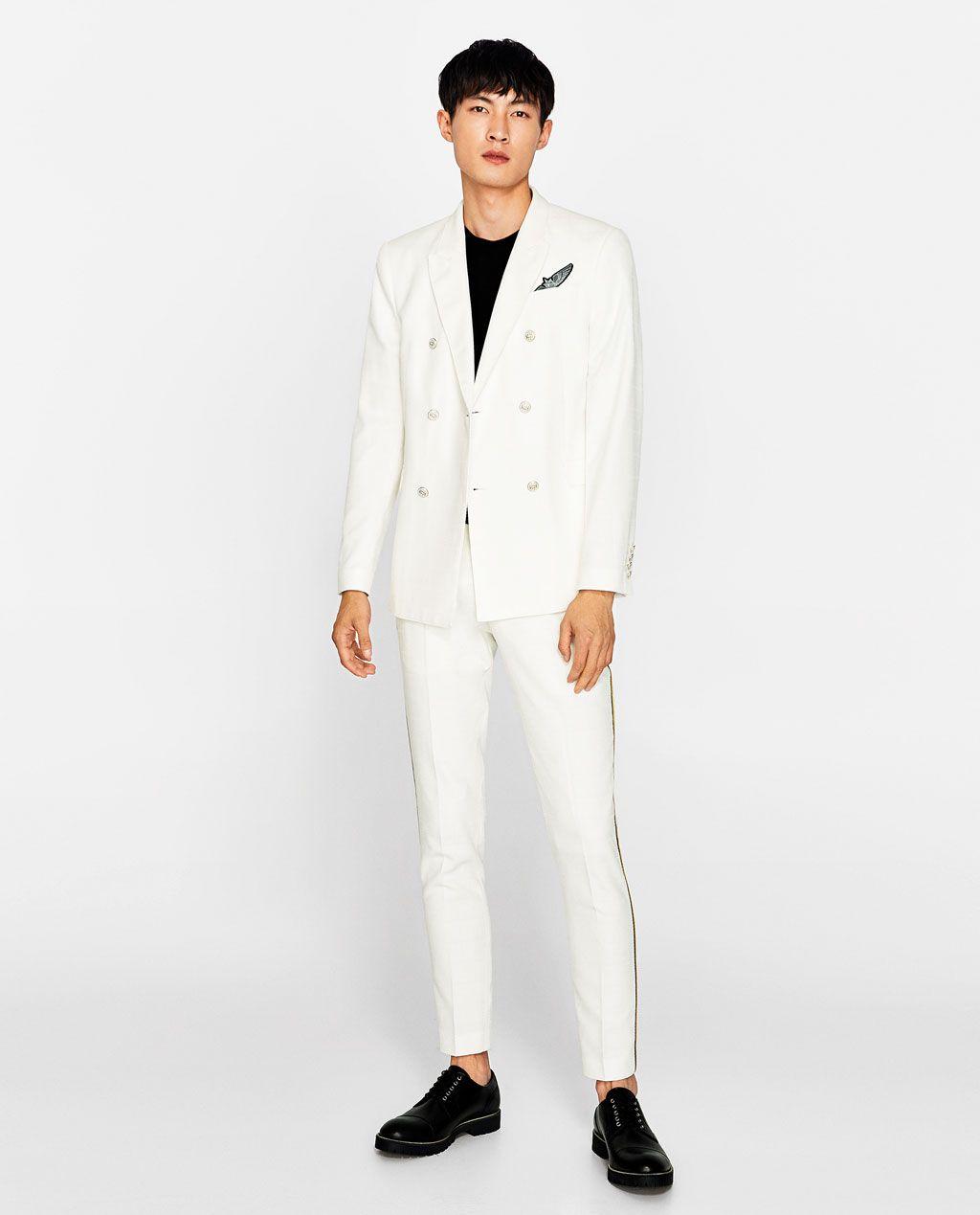 image 1 de blazer crois textur de zara men coats jackets pinterest blazer crois. Black Bedroom Furniture Sets. Home Design Ideas