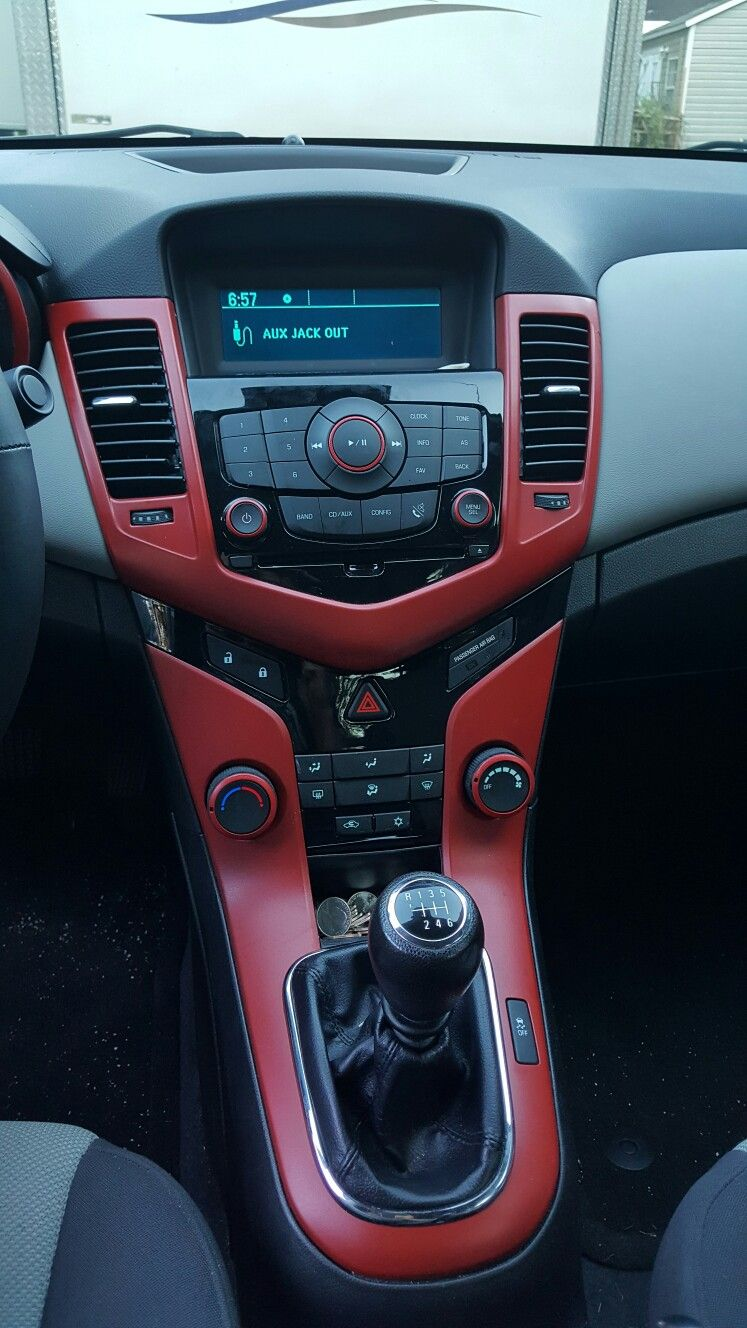 DIY Red Plasti Dip 13u0027 Chevy Cruze Interior
