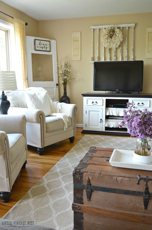 Farmhouse Living Room Summer Refresh  Chairs  Pinterest Custom Little Living Room Design Inspiration