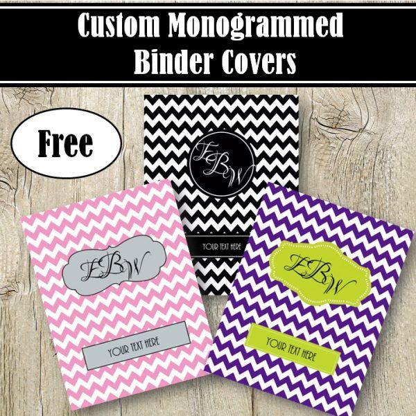 free monogram binder cover binder cover template pinterest