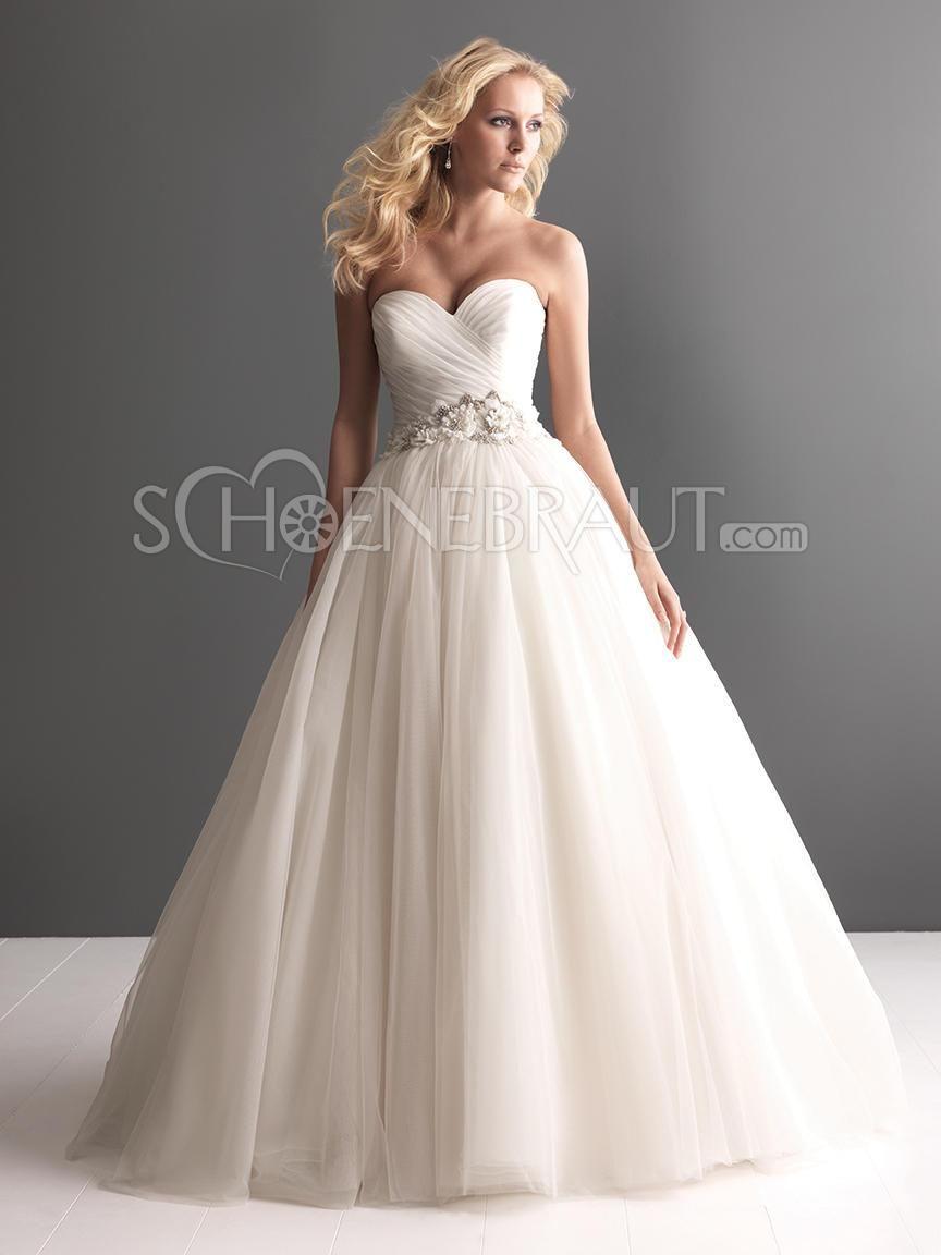 A-Linie Herzförmig Zierperlen Organza Prinzessin Hochzeitskleid mit ...