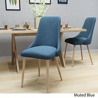Sabina Mid Century Fabric Dining Chair (Set of 2) by