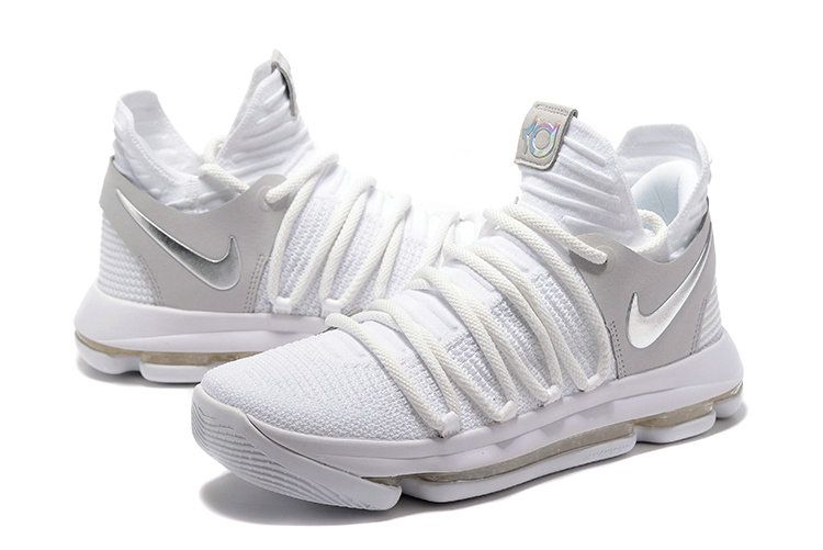 the latest fa30d 8ba27 Factory Authentic Nike KD 10 Still KD White Silver Nike KD 10 Wholesale