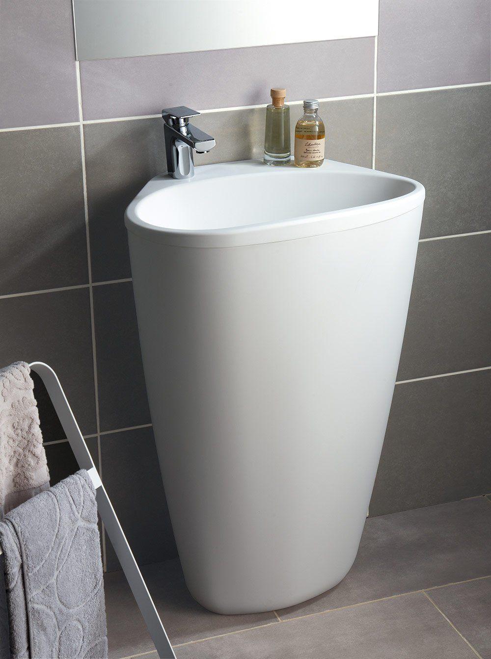 Lavabo A Colonna Design un lavabo-colonne design, leroy merlin | lavabo colonne