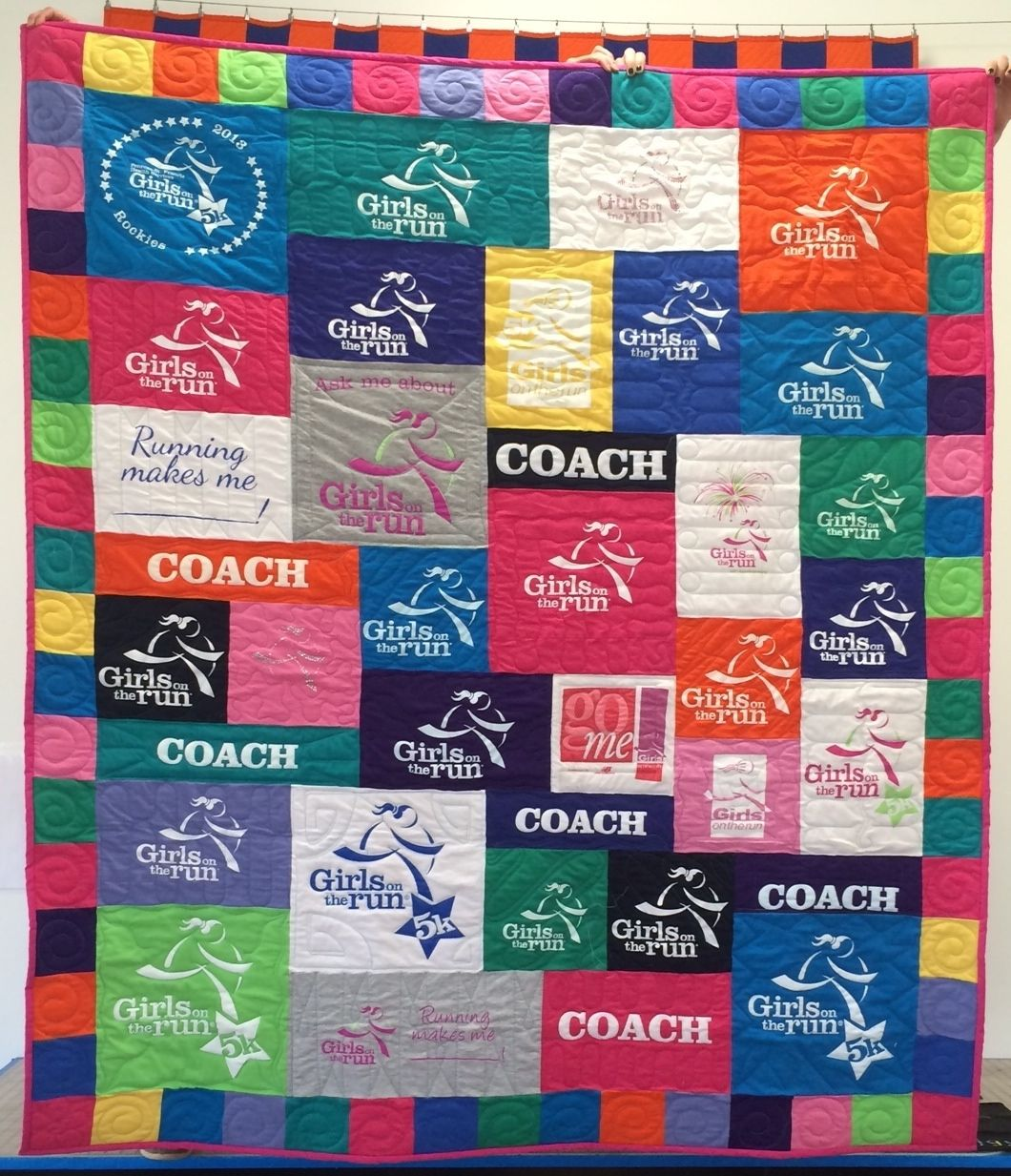 A Too Cool T-shirt Quilt for this super runner! If you're a runner ... : running t shirt quilt - Adamdwight.com