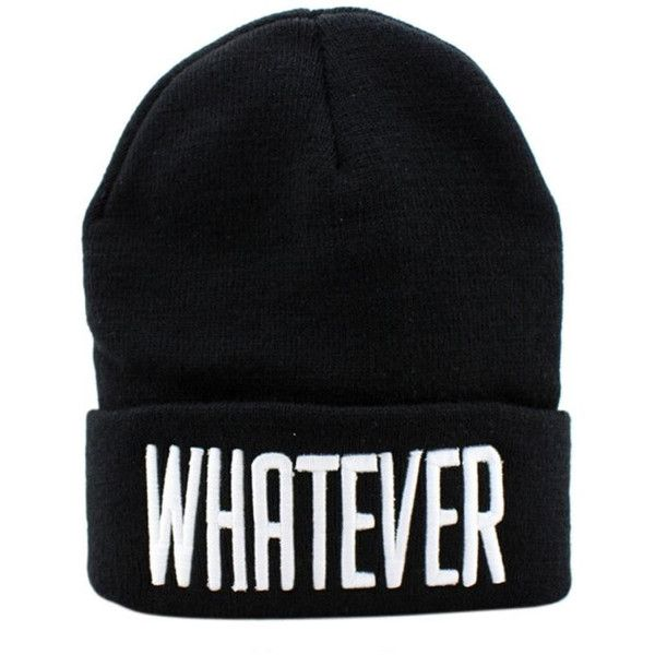 0d044da29c3 Whatever knit beanie hat ( 33) ❤ liked on Polyvore featuring accessories