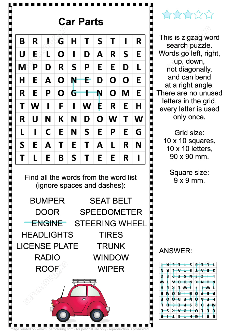 43+ Supercoloring word search ideas