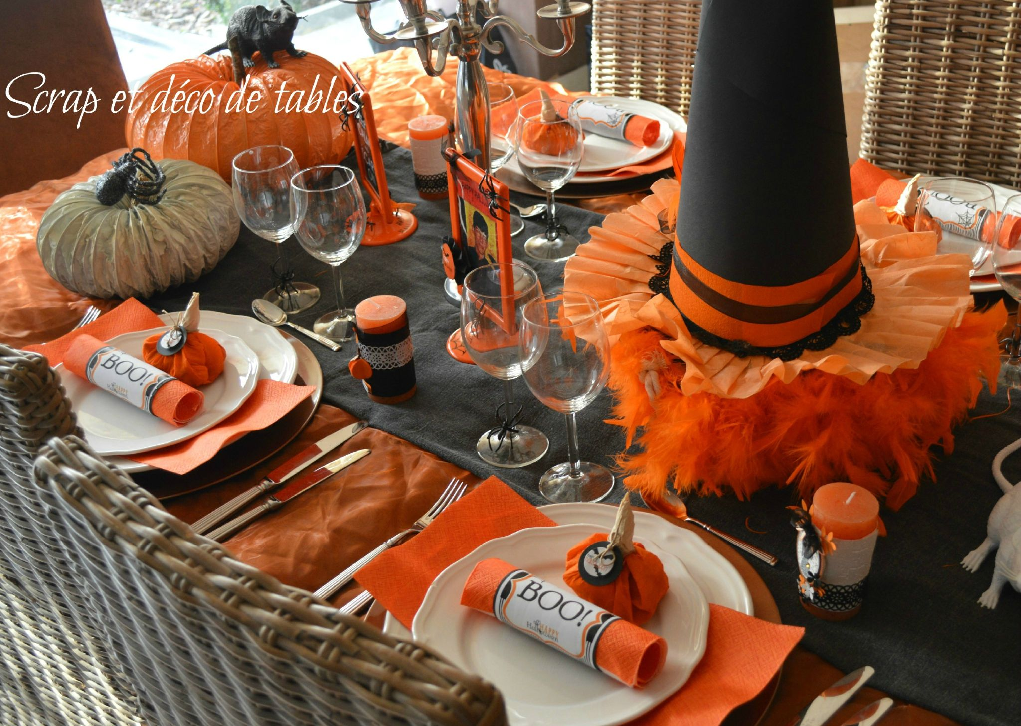 id e d co de table pour halloween 2 halloween pinterest deco de table halloween et idee. Black Bedroom Furniture Sets. Home Design Ideas
