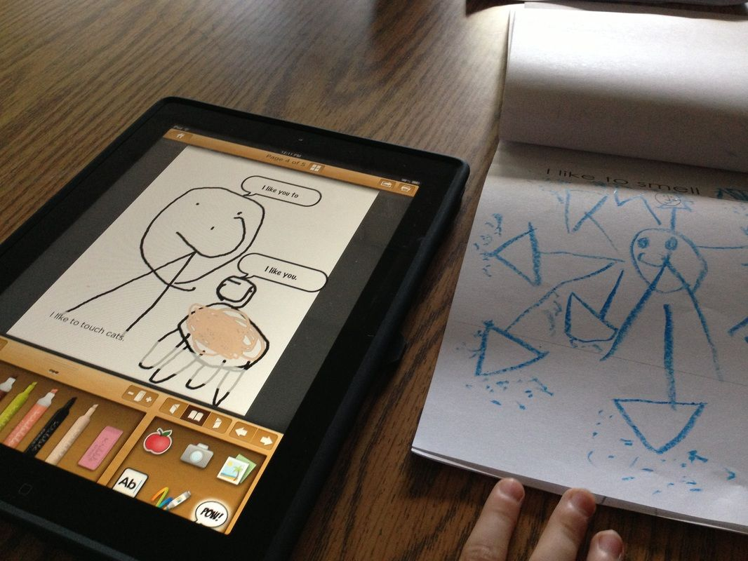 Primary Digital Book Reports Kinder Students Use Scribble