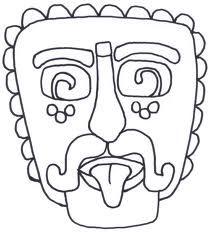Mayan Masks Colouring Pages Mayan Art Aztec Art Art Worksheets