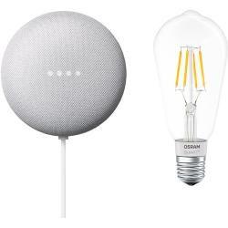 Google Nest Mini & Osram Smart+ Set 16 (Rock Candy)Bauhaus.info #googlehomemini