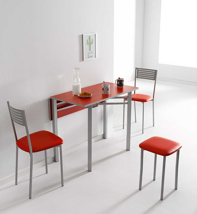 Mesa de cocina estrecha de 25 cms en color reformas guaita deco hogar pinterest cocina - Mesa plegable pared ...